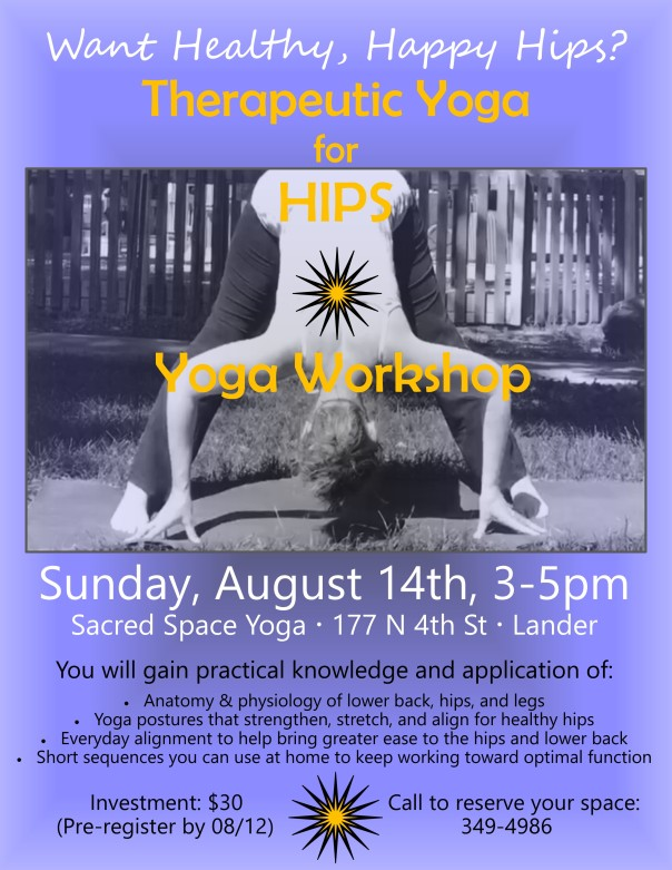 Upcoming Yoga Workshoptherapeutic Yoga For Hips Sacred Space